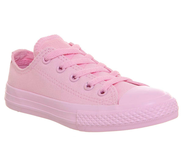 Kids Converse All Star Low Youth Cherry Blossom Mono Uk Size 2