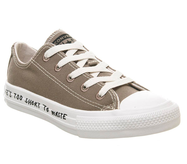 Kids Converse All Star Low Youth Mason Taupe Natural White Renew