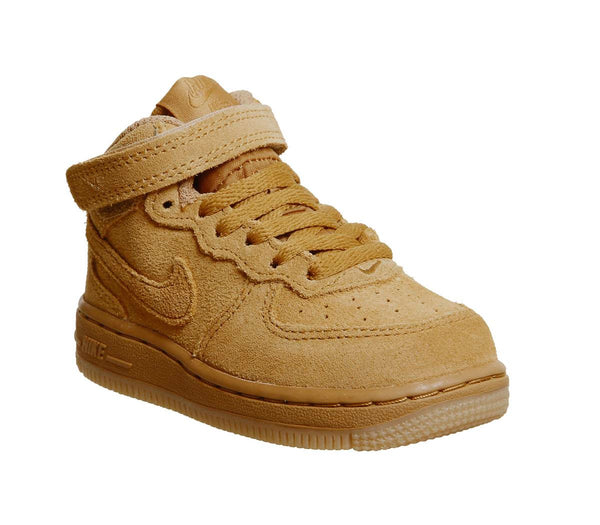 Kids Nike Af1 Mid Infant Wheat Wheat Gum