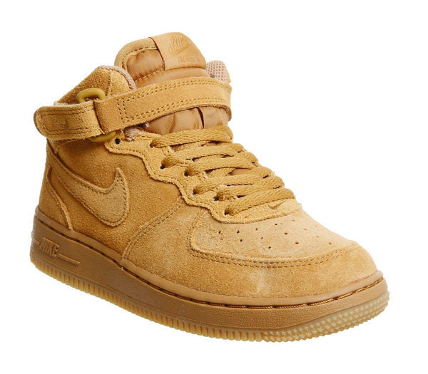 Kids Nike Af1 Mid Ps Wheat Wheat Gum