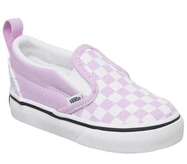 Kids Vans Classic Slip On Toddlers Lilac Snow True White Checker