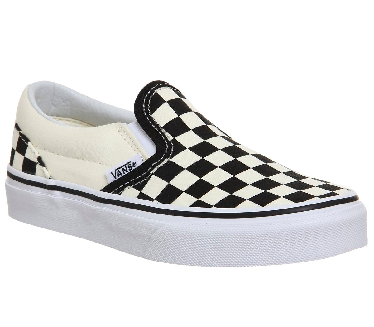 df786a78fd Kids Vans Classic Slip On Kids Black White Checkerboard Uk Size 13 You –  OFFCUTS SHOES by OFFICE