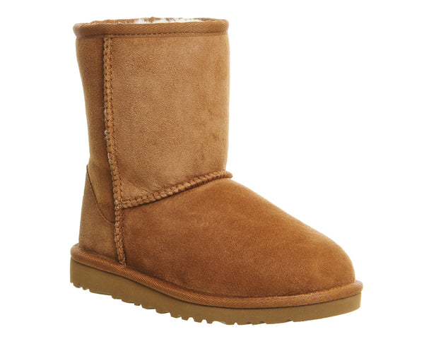 Kids Ugg Australia Classic Kids/ Youth  Suede Pull On Ankle Boots Uk Size 3