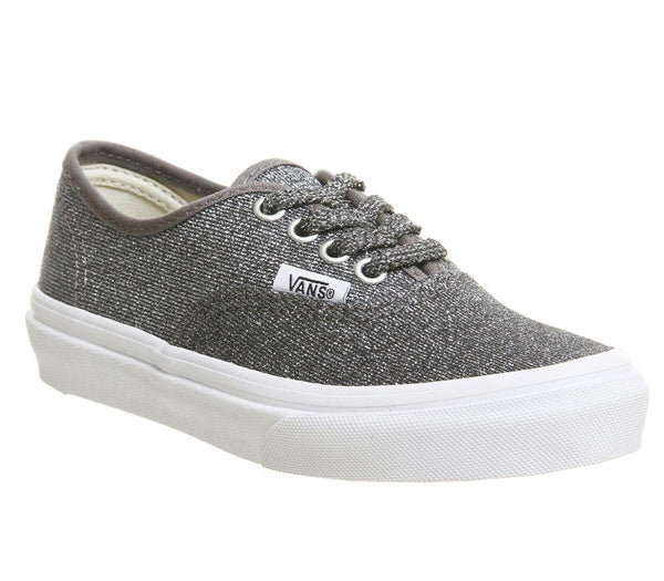 Kids Vans Authentic Kids Black True White Glitter