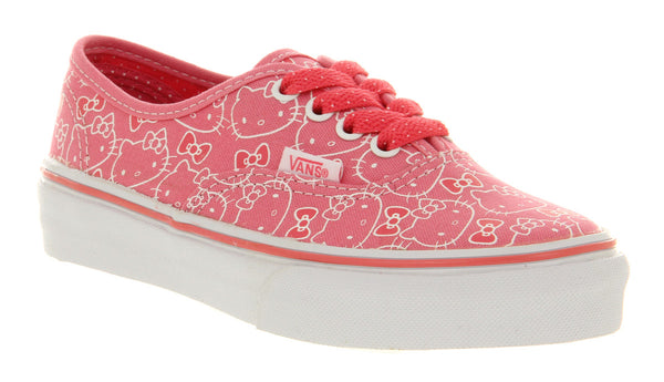 Kids Vans Authentic Kids Hello Kitty Hot Pink Uk Size 2