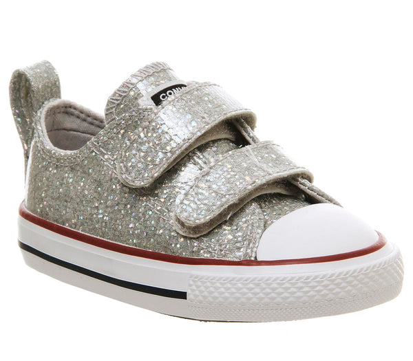 Kids Converse All Star 2Vlace Mouse Glitter White