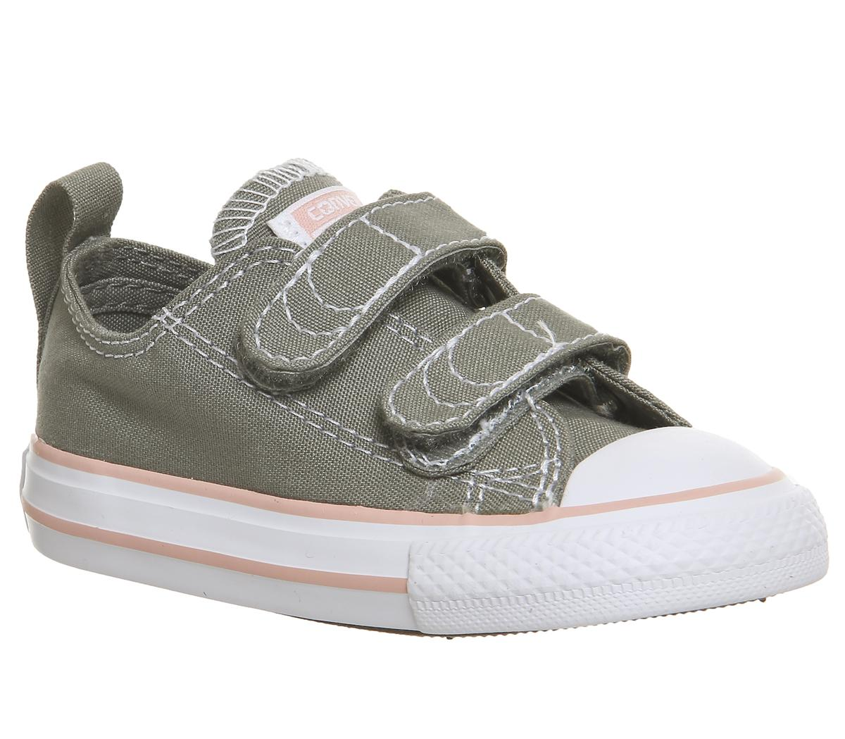 Kids Converse All Star 2Vlace Dark Stucco Pale Coral