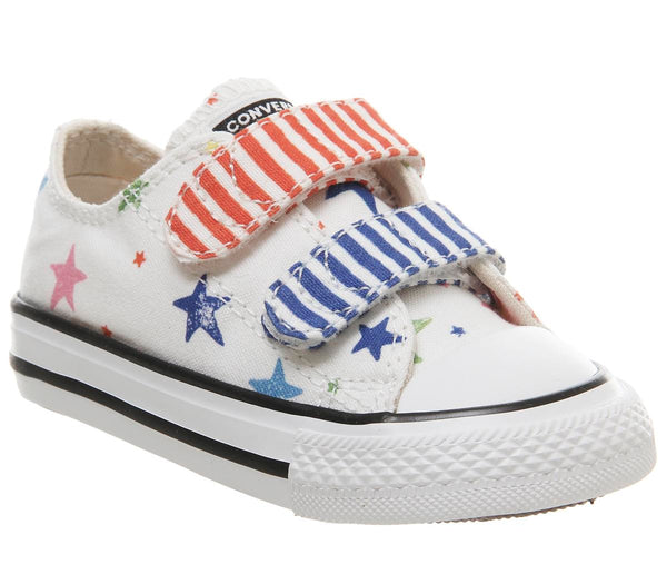 Kids Converse All Star 2Vlace Noe And Zoe Multi Stars