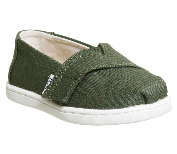 Kids Toms Tiny Classics Pine White Uk Size 10 Youth
