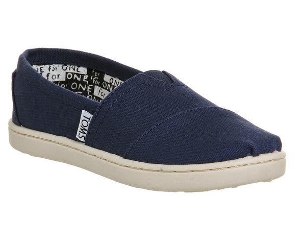 Kids Toms Youth Classics Navy Canvas Uk Size 12 Youth
