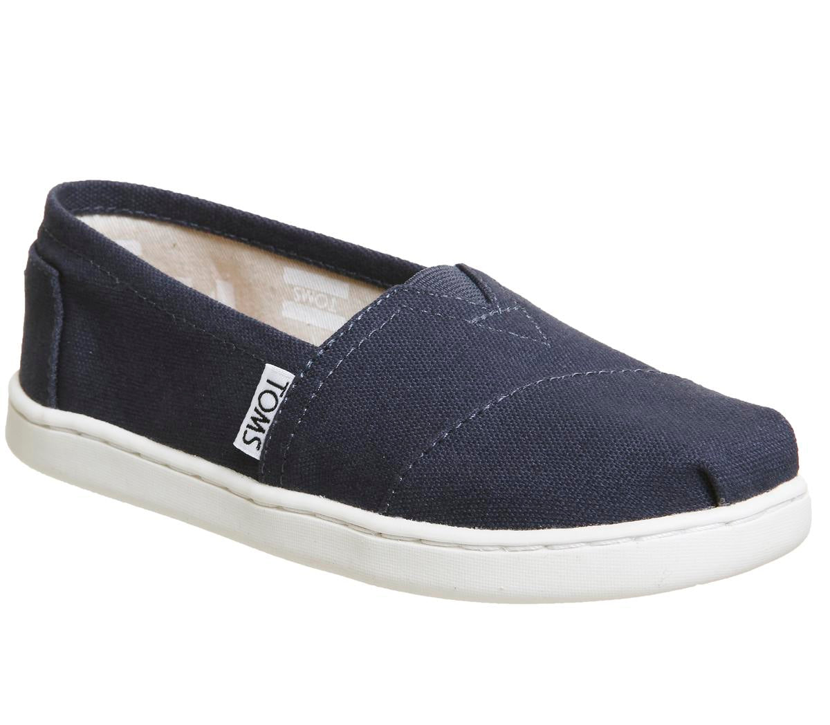 Kids Toms Youth Classics Navy White