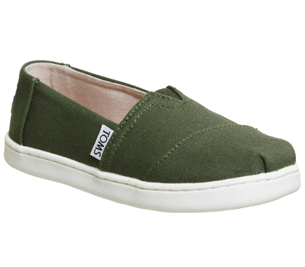 Kids Toms Youth Classics Pine White Uk Size 1 Youth