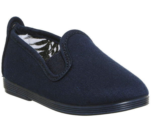 Kids Flossy Flossy Plimsole Navy Mono Uk Size 5 Infant