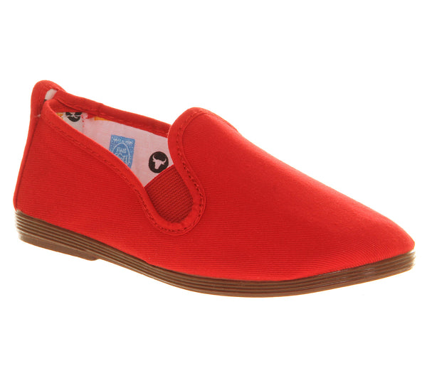 Kids Flossy Flossy Plimsole Red Uk Size 11 Youth