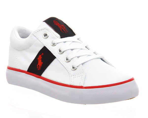 Ralph Lauren Giles (K) 10 - 2, White Navy Red - Trainers - Size 2 Youth