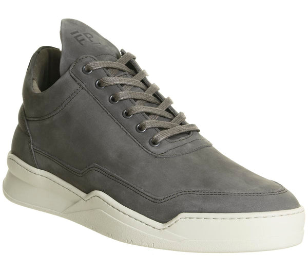 Mens Filling Pieces Low Top Ghost Dark Grey Grey Uk Size 9