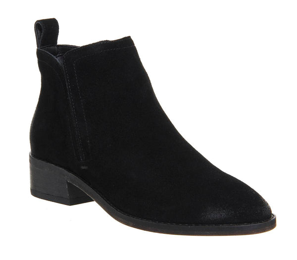 Womens Dolce Vita Tessey Low Boot Black Suede