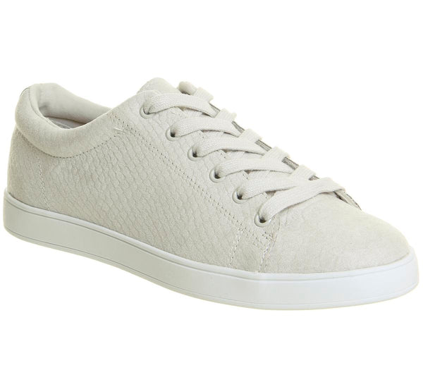 Womens Office Penelope Lace Up Trainer White Snake