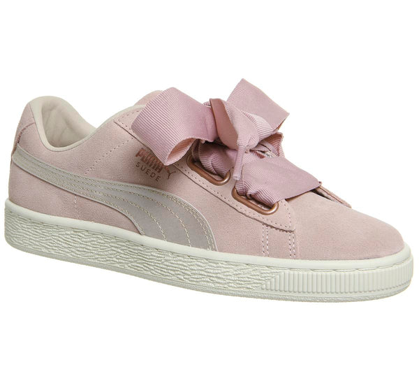Womens Puma Suede Heart Silver Pink Tint Rose Gold Uk Size 7