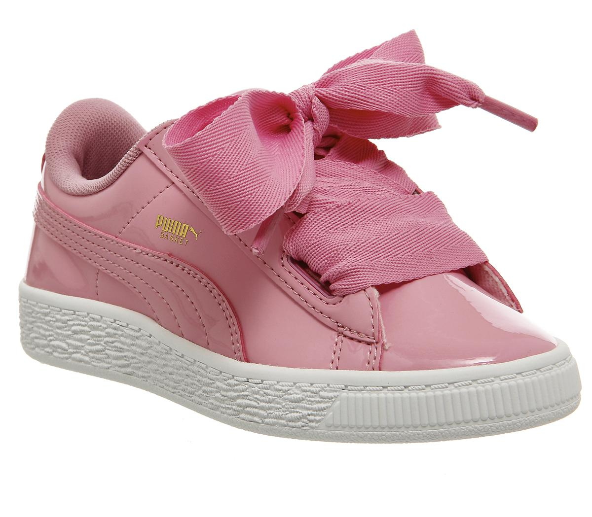 Kids Puma Basket Heart Ps Prism Pink Patent