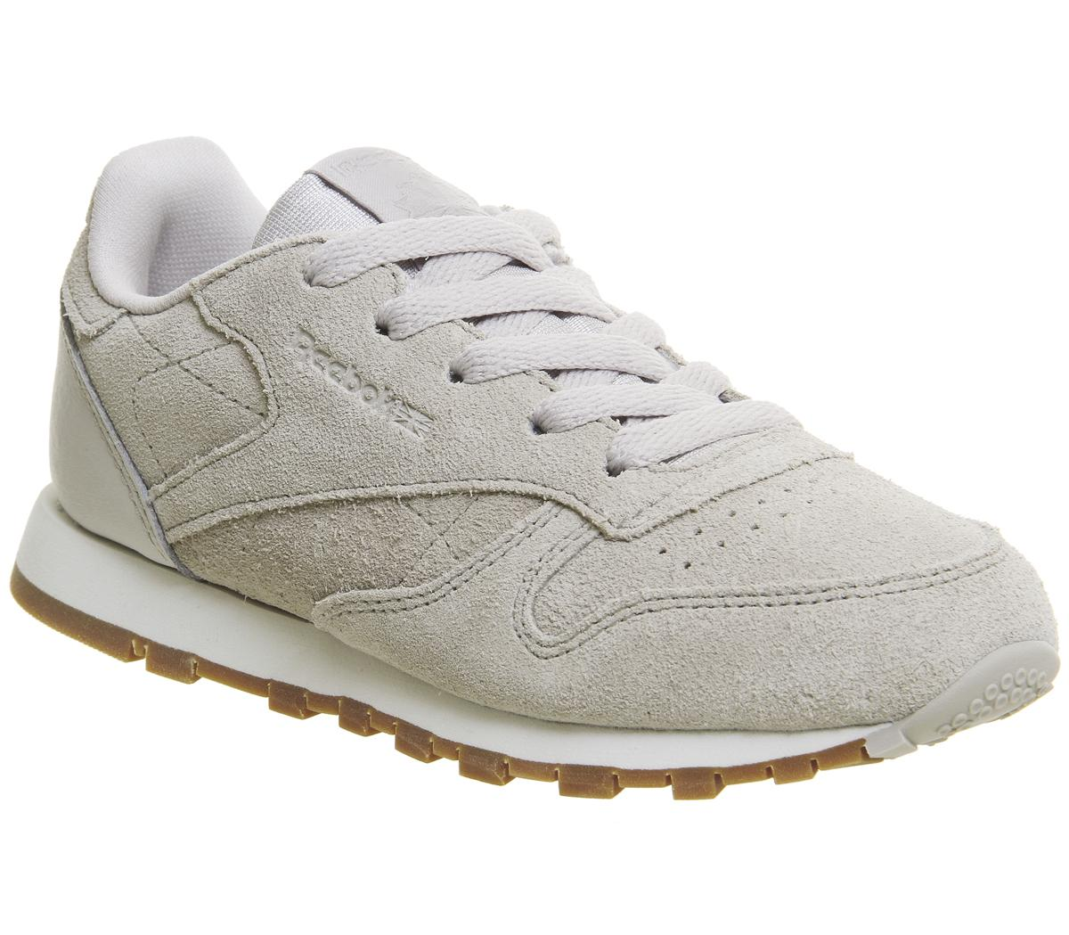 Kids Reebok Classic Leather Ps Sandstone Chalk Gum Trainers