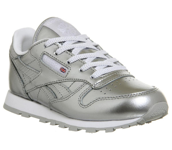 Kids Reebok Classic Leather Ps Silver White