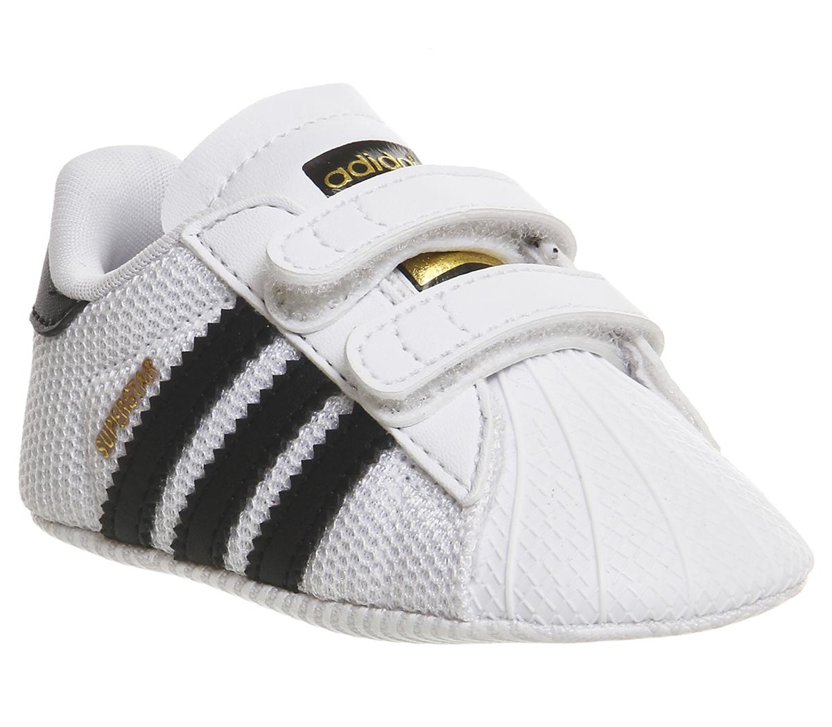 Kids Adidas Superstar Crib White Black White