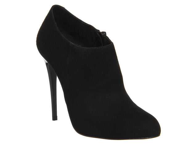 Womens Office Nancy Shoeboot Black Kid Suede