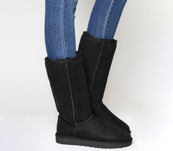 Womens Ugg Classic Tall Ii Black Suede Uk Size 6.5