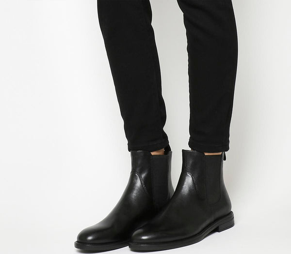 Womens Vagabond Amina Chelsea Boot Black Leather