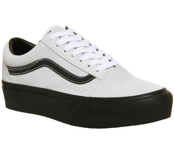 Mens Vans Old Skool Platform Blanc Black