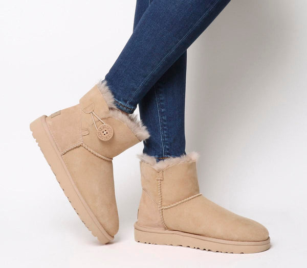 Womens Ugg Mini Bailey Button Ii Amberlight Uk Size 8