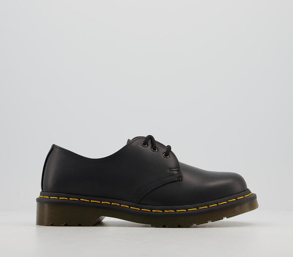 Odd Sizes - Womens Dr.Martens 3 Eyelet Shoes Black UK Sizes R4/L5