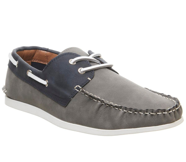 Mens Office Floats Your Boat Shoe Grey Navy