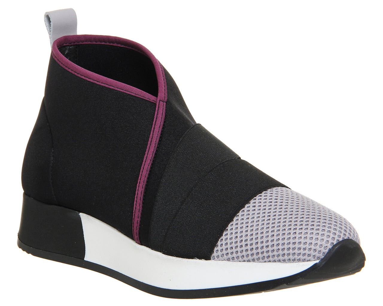 Womens Office Taifu Mesh Elastic Boot Black Grey
