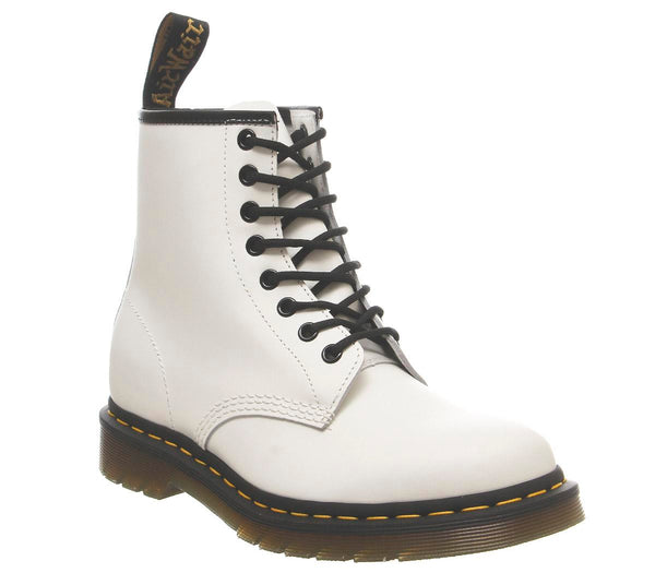 Womens Dr.Martens 8 Eyelet Lace Up Bt White