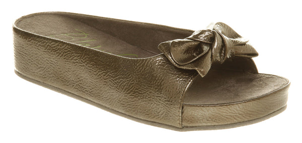 Womens Blowfish Blowfish Bow Wedge Sandal Pewter Captain