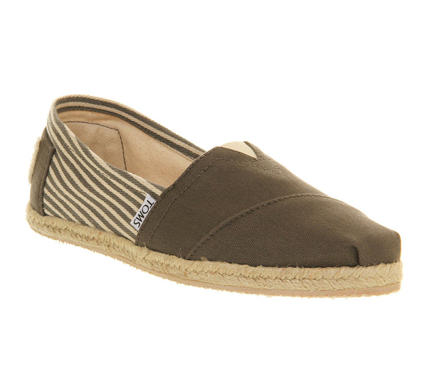 Womens Toms Toms University Espadrill Grey Canvas