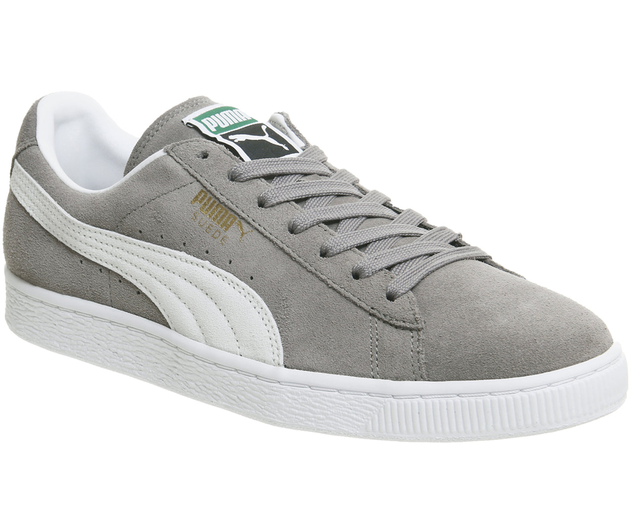 Unisex Puma Suede Classic Grey White Trainers – OFFCUTS SHOES by OFFICE a96697bc54b8