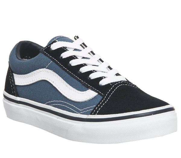 Kids Vans Old Skool Lace K Navy True White Uk Size 10 Youth