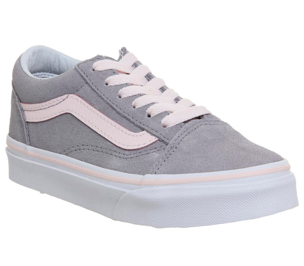 Kids Vans Old Skool Lace K Alloy Heavenly Pink White