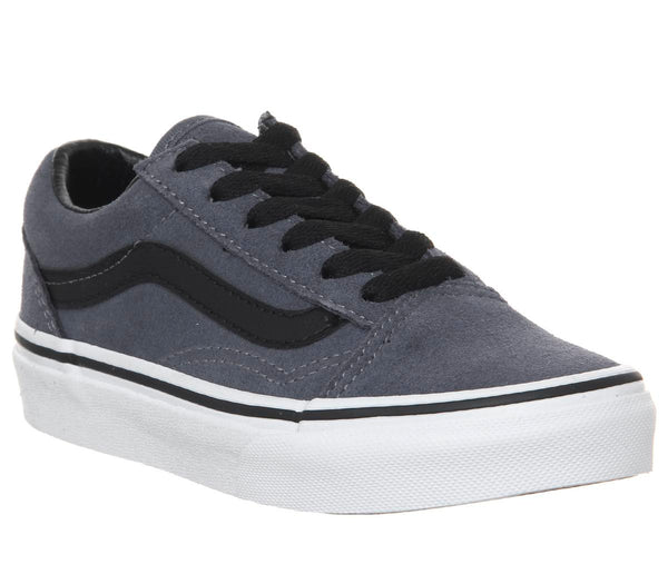Kids Vans Old Skool Lace K Grisaille Blue Black White
