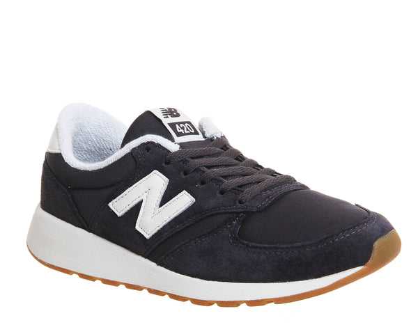 Womens New Balance 420 Navy White Trainers