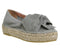 Womens Office Toro Knot Wedge Grey Suede