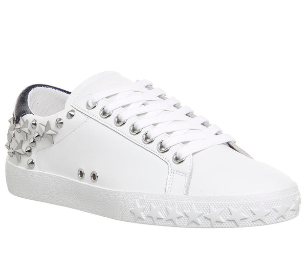 Womens Ash Dazed Sneaker White Midnight Leather