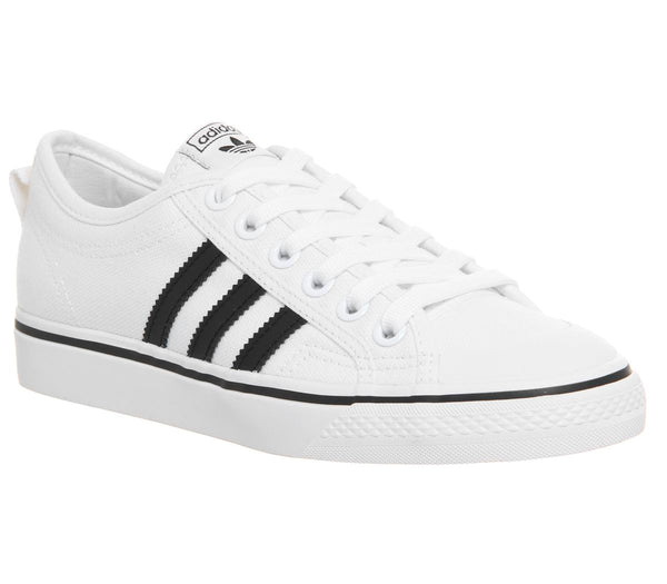 Womens Adidas Nizza Trainers White Core Black