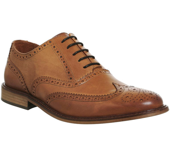 Mens Ask The Missus Friendly Brogue Tan Leather