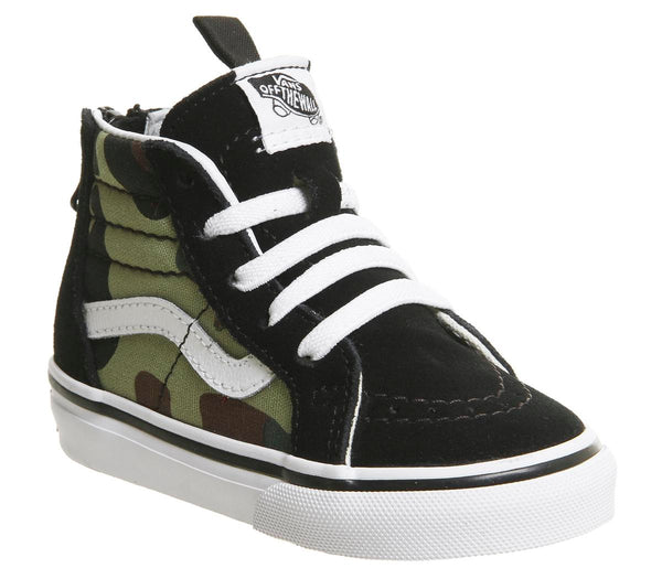 Kids Vans Sk8 Hi Zip Toddler Woodland Camo Uk Size 9 Infant