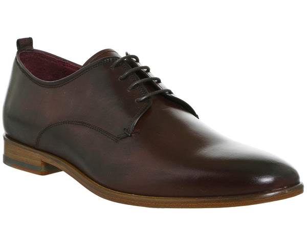 Mens Office Famoso Derby Chocolate Leather Uk Size 8