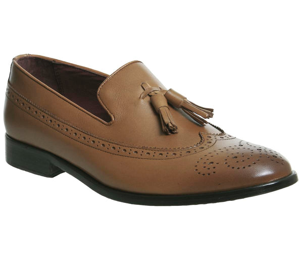 Mens Office Fragola Tassel Loafer Tan Leather